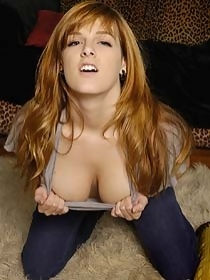 Sexy redhead party girl