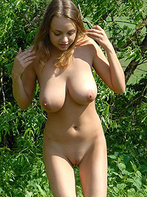 Busty Anastasia Is Nude Outdoor